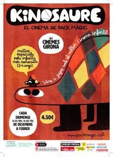 Kinosaure y Petit Kinosaure en los Cinemes Girona