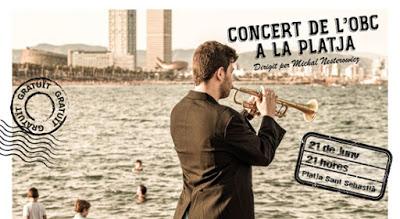Concierto de la OBC en la Playa de San Sebastián
