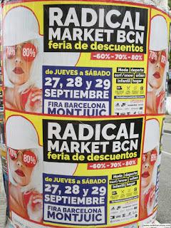 Radical Market. Feria de descuentos de Barcelona